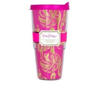 NWT Lily Pulitzer Gimme Some Leg thermal mug